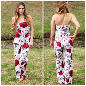 Pants - Floral Jumpsuit